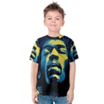 Gabz Jimi Hendrix Voodoo Child Poster Release From Dark Hall Mansion Kids  Cotton Tee