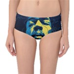 Gabz Jimi Hendrix Voodoo Child Poster Release From Dark Hall Mansion Mid-Waist Bikini Bottoms