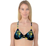 Gabz Jimi Hendrix Voodoo Child Poster Release From Dark Hall Mansion Reversible Tri Bikini Top