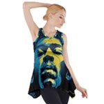 Gabz Jimi Hendrix Voodoo Child Poster Release From Dark Hall Mansion Side Drop Tank Tunic