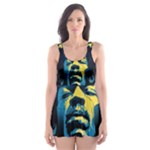 Gabz Jimi Hendrix Voodoo Child Poster Release From Dark Hall Mansion Skater Dress Swimsuit