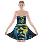 Gabz Jimi Hendrix Voodoo Child Poster Release From Dark Hall Mansion Strapless Bra Top Dress
