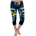 Gabz Jimi Hendrix Voodoo Child Poster Release From Dark Hall Mansion Capri Yoga Leggings
