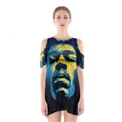 Gabz Jimi Hendrix Voodoo Child Poster Release From Dark Hall Mansion Cutout Shoulder Dress by Onesevenart