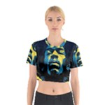 Gabz Jimi Hendrix Voodoo Child Poster Release From Dark Hall Mansion Cotton Crop Top
