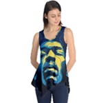 Gabz Jimi Hendrix Voodoo Child Poster Release From Dark Hall Mansion Sleeveless Tunic
