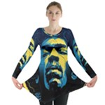 Gabz Jimi Hendrix Voodoo Child Poster Release From Dark Hall Mansion Long Sleeve Tunic