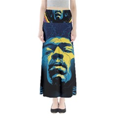 Gabz Jimi Hendrix Voodoo Child Poster Release From Dark Hall Mansion Maxi Skirts by Onesevenart
