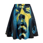 Gabz Jimi Hendrix Voodoo Child Poster Release From Dark Hall Mansion High Waist Skirt