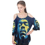 Gabz Jimi Hendrix Voodoo Child Poster Release From Dark Hall Mansion Flutter Tees