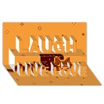 Nyan Cat Vintage Laugh Live Love 3D Greeting Card (8x4)