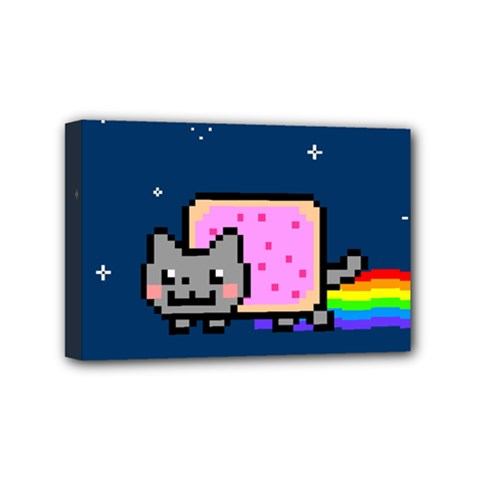 Nyan Cat Mini Canvas 6  X 4  by Onesevenart