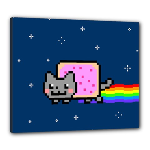 Nyan Cat Canvas 24  X 20  by Onesevenart