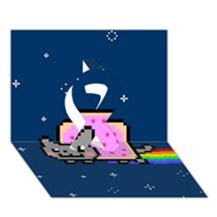 Nyan Cat Ribbon 3d Greeting Card (7x5) by Onesevenart