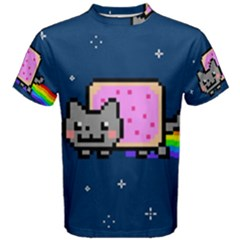 Nyan Cat Men s Cotton Tee by Onesevenart