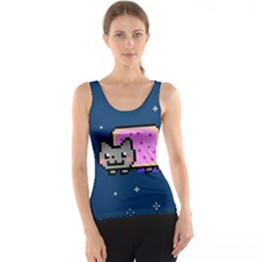 Nyan Cat Tank Top by Onesevenart