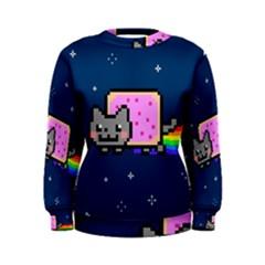 Nyan Cat Women s Sweatshirt by Onesevenart