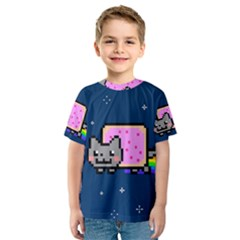 Nyan Cat Kids  Sport Mesh Tee by Onesevenart