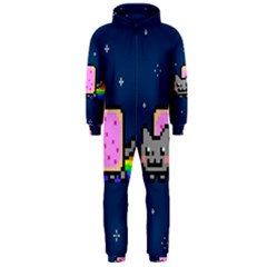 Nyan Cat Hooded Jumpsuit (men)  by Onesevenart