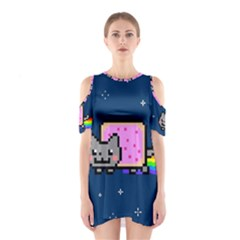 Nyan Cat Cutout Shoulder Dress by Onesevenart