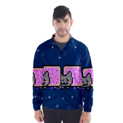 Nyan Cat Wind Breaker (men) by Onesevenart