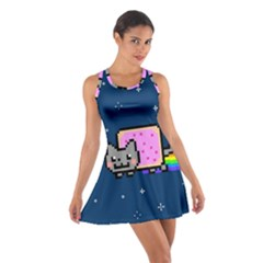 Nyan Cat Cotton Racerback Dress by Onesevenart