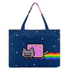 Nyan Cat Medium Zipper Tote Bag by Onesevenart