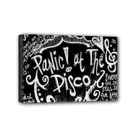 Panic ! At The Disco Lyric Quotes Mini Canvas 6  X 4  by Onesevenart