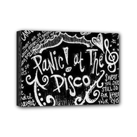 Panic ! At The Disco Lyric Quotes Mini Canvas 7  X 5  by Onesevenart