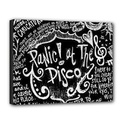 Panic ! At The Disco Lyric Quotes Canvas 14  X 11  by Onesevenart
