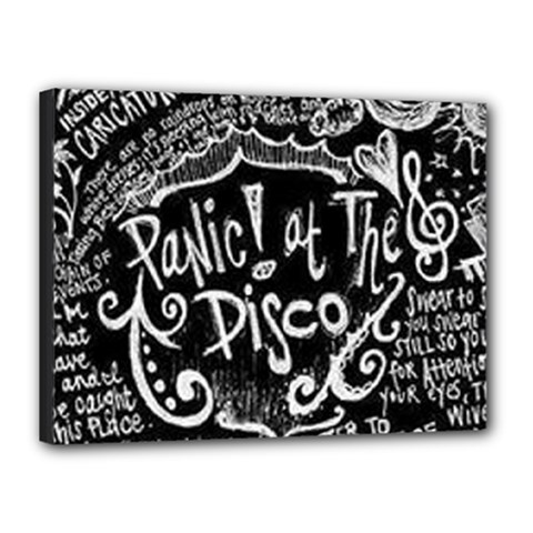 Panic ! At The Disco Lyric Quotes Canvas 16  X 12  by Onesevenart