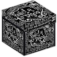 Panic ! At The Disco Lyric Quotes Storage Stool 12   by Onesevenart