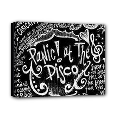 Panic ! At The Disco Lyric Quotes Deluxe Canvas 14  X 11  by Onesevenart