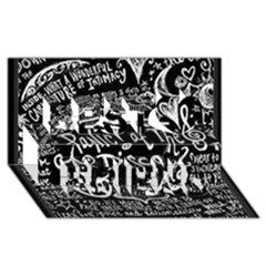 Panic ! At The Disco Lyric Quotes Best Friends 3d Greeting Card (8x4) by Onesevenart