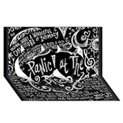 Panic ! At The Disco Lyric Quotes Twin Hearts 3d Greeting Card (8x4) by Onesevenart