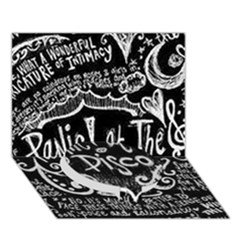 Panic ! At The Disco Lyric Quotes Circle Bottom 3d Greeting Card (7x5) by Onesevenart