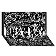 Panic ! At The Disco Lyric Quotes Best Bro 3d Greeting Card (8x4) by Onesevenart
