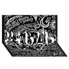 Panic ! At The Disco Lyric Quotes #1 Dad 3d Greeting Card (8x4) by Onesevenart