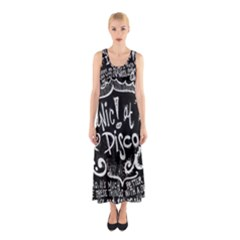Panic ! At The Disco Lyric Quotes Sleeveless Maxi Dress by Onesevenart