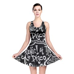 Panic ! At The Disco Lyric Quotes Reversible Skater Dress by Onesevenart