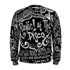 Panic ! At The Disco Lyric Quotes Men s Sweatshirt by Onesevenart