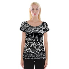 Panic ! At The Disco Lyric Quotes Women s Cap Sleeve Top by Onesevenart