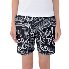 Panic ! At The Disco Lyric Quotes Women s Basketball Shorts by Onesevenart
