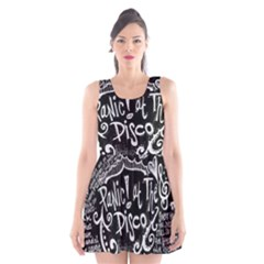 Panic ! At The Disco Lyric Quotes Scoop Neck Skater Dress by Onesevenart