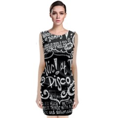 Panic ! At The Disco Lyric Quotes Classic Sleeveless Midi Dress by Onesevenart