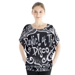 Panic ! At The Disco Lyric Quotes Blouse by Onesevenart