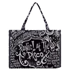 Panic ! At The Disco Lyric Quotes Medium Zipper Tote Bag by Onesevenart
