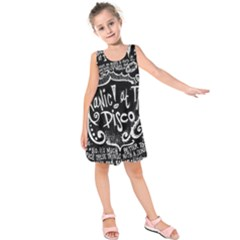 Panic ! At The Disco Lyric Quotes Kids  Sleeveless Dress by Onesevenart