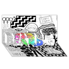 Panic ! At The Disco Best Bro 3d Greeting Card (8x4) by Onesevenart