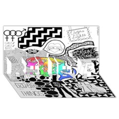 Panic ! At The Disco Believe 3d Greeting Card (8x4) by Onesevenart